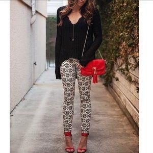 Zara Trafaluc Aztec Printed Skinny Jeans